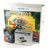A vintage Commodore C64 boxed Hollywood set of boxed joystick, user manual, units, wires, etc., the