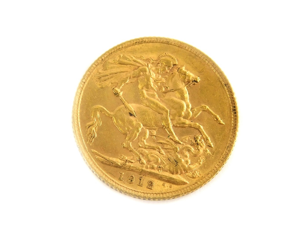 A George V full gold sovereign, 1912. - Image 2 of 2