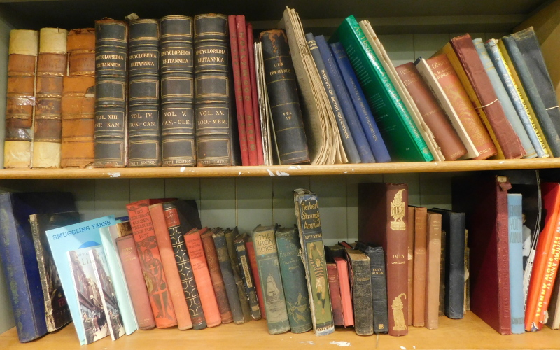 A quantity of general books, mainly relating to foundry men, history to include The History of Engla