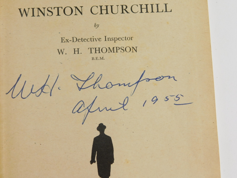 Thompson (WH), Sixty Minutes with Winston Churchill, hardback in blue boards, signed by the author. - Image 2 of 2