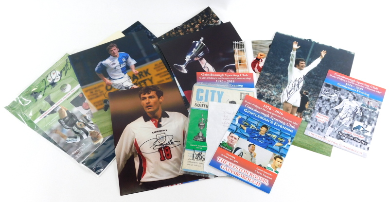 Various football related signatures, photographs, etc., Matthew Le Tissier, colour photographic prin