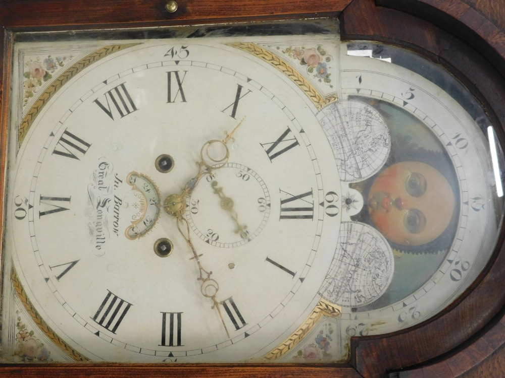 John Barrow, Great Longville. longcase clock, the arched painted dial with moon phase, eight day fou - Image 2 of 3