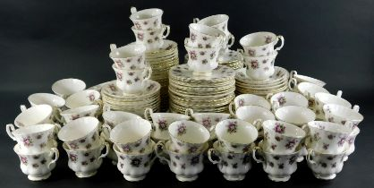 A comprehensive Royal Albert Sweet Violet pattern bone china part tea service, to include sixty cups