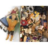 Various bygones, collectables, toys, treen, etc., an interesting collection of various figures, clot