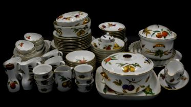 A large quantity of Royal Worcester Evesham pattern dinner and tea ware, to include tureens, shaped