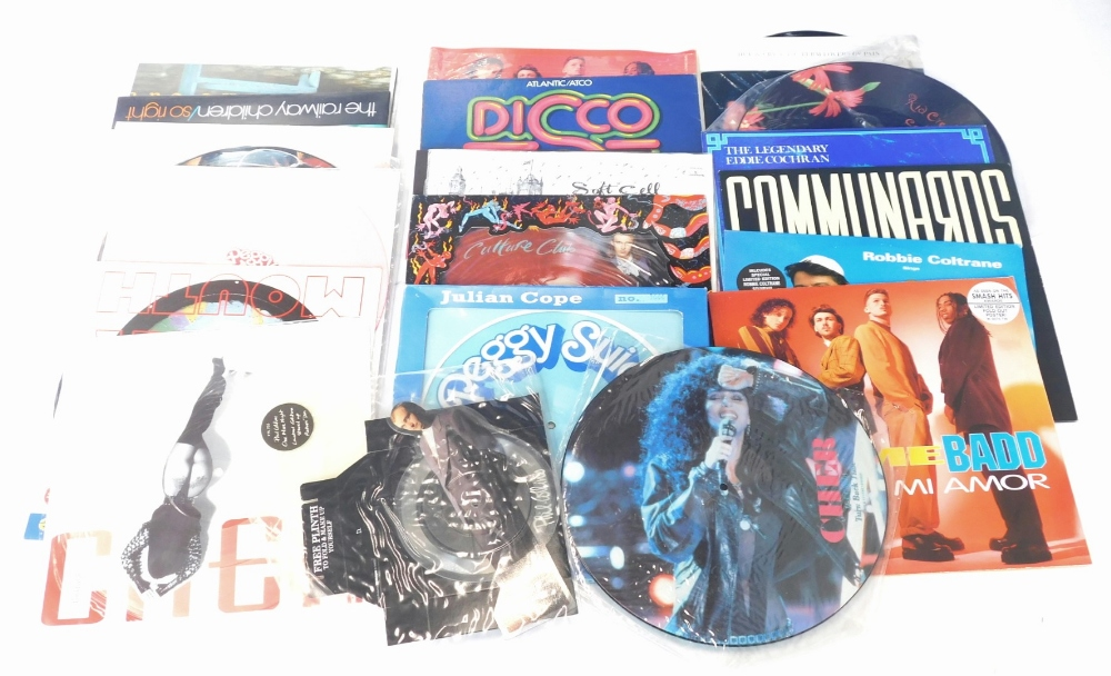 A quantity of 80s, 90s records, to include 12 inches, picture discs, artists to include The Culture