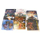 A quantity of Iron Maiden and Bruce Dickinson LP and 12 inch singles, to include limited edition Fea