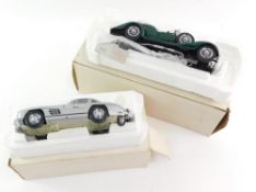 A Franklin Mint die cast precision model of a 1954 Mercedes Benz 300SL, together with a 1938 Alvis 4