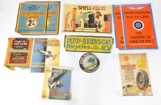 Early 20thC posters, to include Shell., Hercules Cycles., New Hudson Bicycles., and Sturmey Archer,