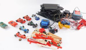 Scalextric, to include an assortment of cars, controllers and track. (a quantity)