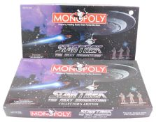 Two Monopoly Star Trek's The Next Generation sets, Collectors Edition, boxed.