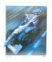 A Williams Formula 1 World Champions 1996 limited edition print, by Gavin Macleod, signed, 504/1000,