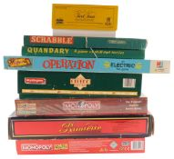 Games, including Monopoly Thomas Cook edition and Token Madness, Roulette, Super Cluedo Challenge an