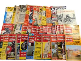 Motorcycle magazines, chiefly 1960/70s, including Motorcycle, Scooter and Three Wheeler Mechanics, M