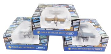 Three Armour Collection Franklin Mint precision models, boxed, comprising a P40n Warhawk Sing Pao B1
