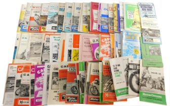 Motorcycle and Auto Car Racing brochures, 1960s/80s, including Cadwell Park, Mallory Park and Silver