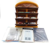 A Franklin Mint The Classic Cars of The Fifties Twelve Car Collection, with display case and part wo
