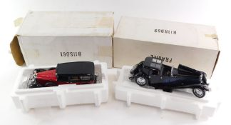 A Franklin Mint Precisions Model of a 1938 Mercedes Benz 770K Grosser, together with a 1930 Bugatti
