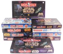 Ten Star Wars Monopoly games, comprising two Limited Collectors Editions., Episode I Collector Editi