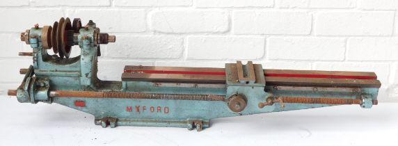 A Myford belt driven lathe.