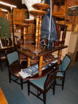 A table and four chairs, coffee table, nest of tables, etc. (a quantity) The upholstery in this lot