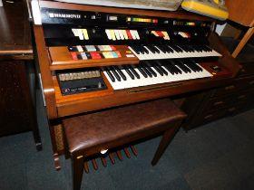 A Hammond electric organ with stool. (2)