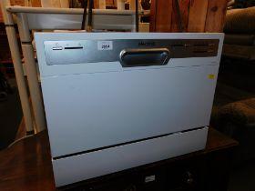 An Electriq counter top dishwasher, model EQDWTTW.