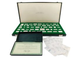 A Franklin Mint The Worlds Greatest Bank Notes silver ingot collection, first edition proof set, lim