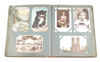 Deltiology: Edwardian and later topographical, sentimental and humorous postcards, greetings cards,