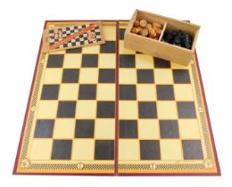 A Milbro Staunton pattern boxwood chess set, boxed with board.