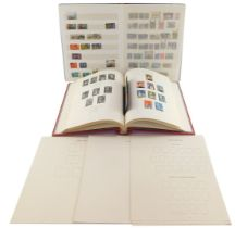 Philately. EV-EII mint and used stamps, together with Commonwealth and world stamps, in two albums.