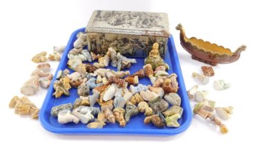 Wade Whimsies, animals, fish and birds, etc., together with nursery rhyme figures and Flintstones di