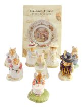 Eight Royal Doulton Brambly Hedge figures, comprising Wilfred Toadflax, Mrs Apple, Poppy Eyebright,