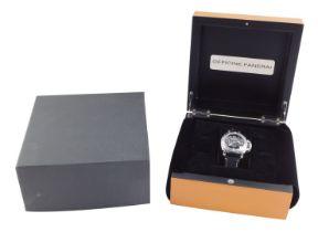 A Panerai Submersible gentleman's stainless steel cased wristwatch, Luminor submersible circular bla
