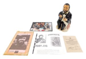 A Kevin Francis pottery character jug modelled as Pavarotti, by Doug Tootle, limited edition 291/200