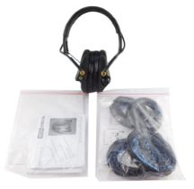 A MSA Sordin Supreme pro-X headset, type 75302, EN352, with instructions, together with spare ear de