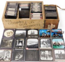 A group of Magic Lantern slides, to include Asia, North Africa, Egypt, European cities, yachts and o