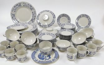 A Royal Doulton Oakdene pattern part tea and dinner service, comprising cups and saucers, tureen lid