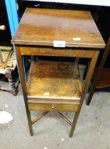 A Georgian mahogany wash stand, with single drawer on x frame base.