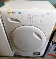 A Zanussi Lindo 100 7kg tumble dryer.