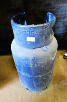 A Flo Gas 13kg gas bottle, blue.
