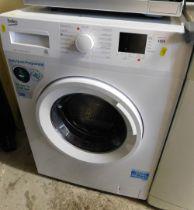 A Beko 8kg washing machine.