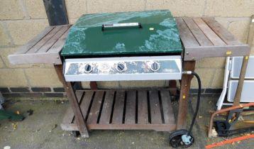 The Australian Barbecue Company triple gas burner barbecue and accessories.