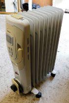 A nine fin oil filled radiator.