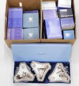 A quantity of Wedgwood Jasperware ornaments, to include bells, boxes, vases, etc.