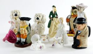 A quantity of ceramics, to include a pair of Beswick spaniels, Royal Worcester Perfect Day figurine,