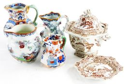 A collection of 19thC and later Masons ironstone, to include jugs, a small tureen and cover, etc.