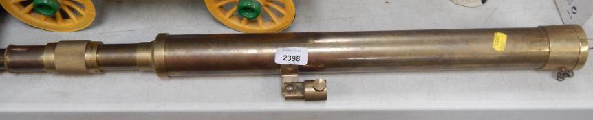 A brass telescope.
