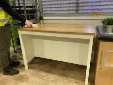 Table length 126cm, depth 77cm, height 90cm