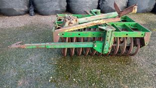 FLEXI COIL FURROW PRESS FOR A 4 FURROW PLOUGH WITH BOLT ON PLOUGH ARM IN WORKING ORDER